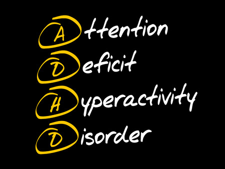 ADHD - Attention Deficit Hyperactivity Disorder, acronym concept Stock Illustratie