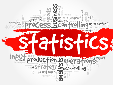 STATISTICS word cloud collage, business concept background