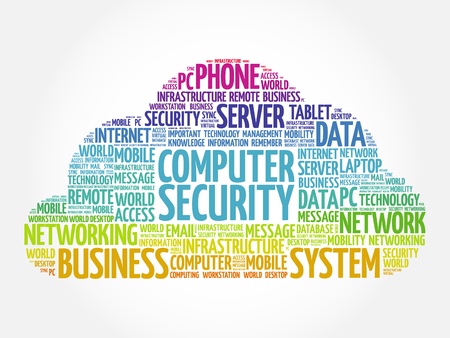 COMPUTER SECURITY word cloud collage, business concept background