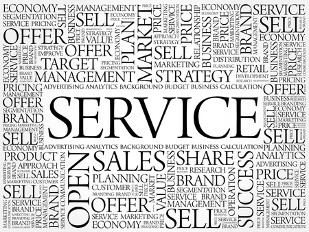 SERVICE word cloud collage, business concept background