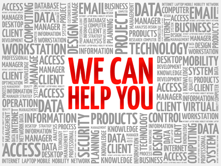 We can help you word cloud concept