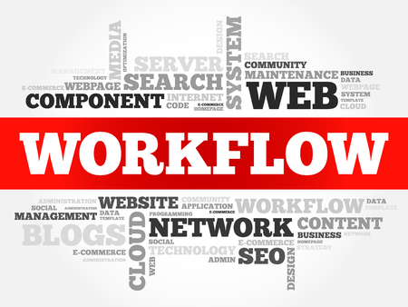 WORKFLOW word cloud, technology business concept background