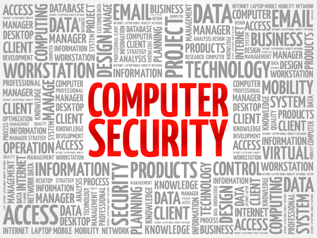COMPUTER SECURITY word cloud collage, technology concept background