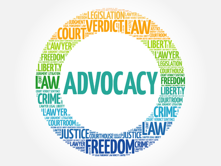 Advocacy word cloud concept background