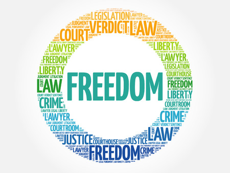 Freedom word cloud concept background