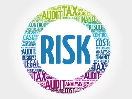 RISK word cloud collage, business concept background