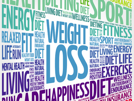 WEIGHT LOSS word cloud, fitness, sport, health concept Vektorové ilustrace