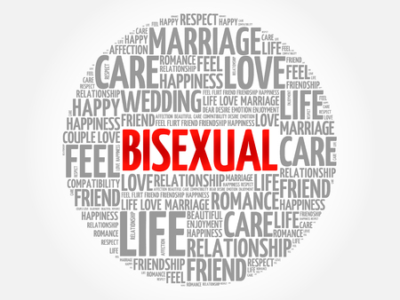 Bisexual circle word cloud collage concept  イラスト・ベクター素材