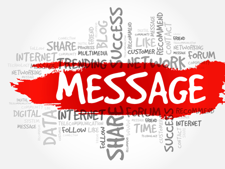 Message word cloud, technology business concept background