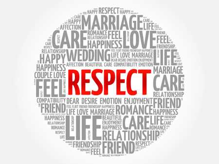 Respect circle word cloud collage concept