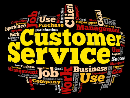 Customer Service word cloud, business concept background