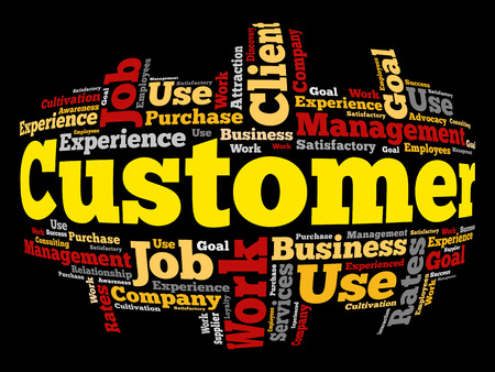 CUSTOMER word cloud, business concept background