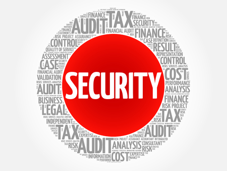 SECURITY word cloud collage, business concept background