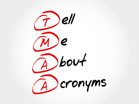 TMAA - Tell Me About Acronyms, acronym concept Illustration