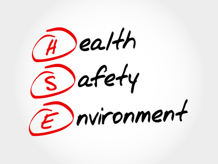 HSE - Health Safety Environment, acronym concept Ilustracja