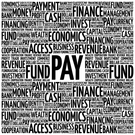 PAY word cloud, business concept
