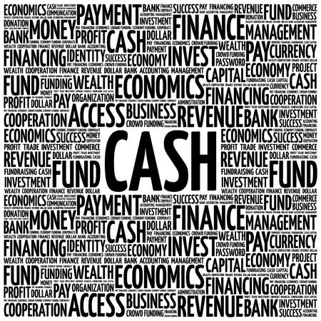 CASH word cloud, concetto di affari