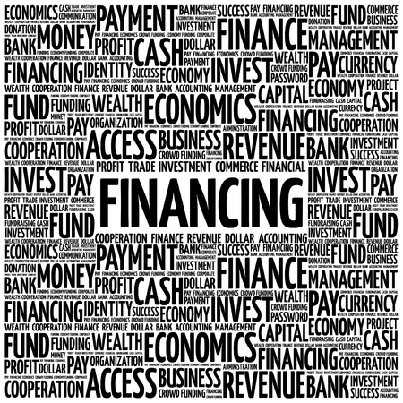 FINANCING word cloud, business concept
