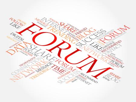 Forum word cloud, technology business concept background