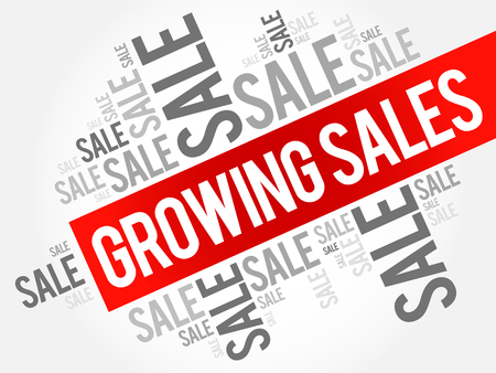 Growing Sales words cloud, business concept background
