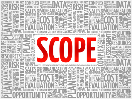 SCOPE word cloud, business concept Illustration
