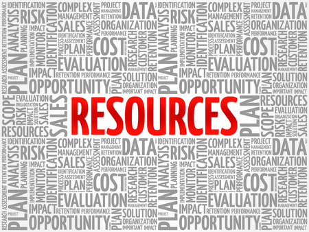 RESOURCES concept in word tag cloud, background