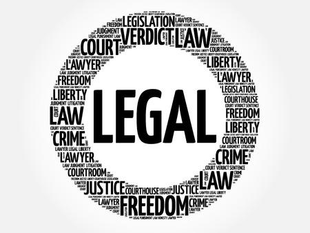 Legal word cloud concept Vektorové ilustrace