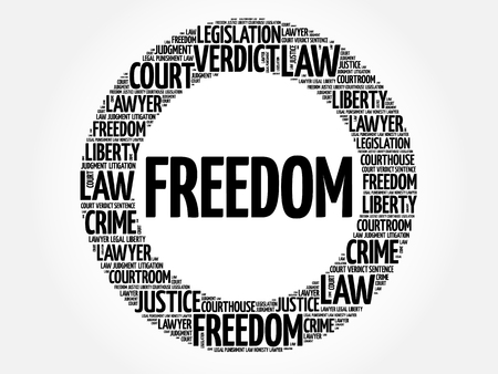 Freedom word cloud concept Illustration