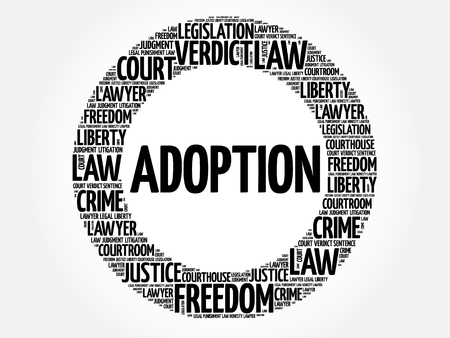 Adoption word cloud concept 向量圖像