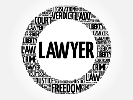 Lawyer word cloud concept