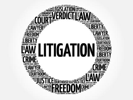 Litigation word cloud concept