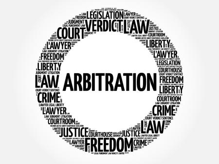 Arbitration word cloud concept  イラスト・ベクター素材