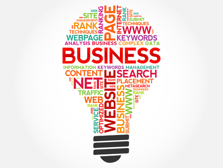 BUSINESS bulb word cloud collage, business concept background