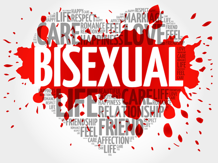 Bisexual word cloud collage, heart concept background  イラスト・ベクター素材