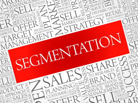 Segmentation word cloud, business concept background Banque d'images - 107360859