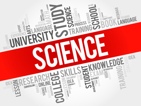 SCIENCE word cloud collage, education concept background  イラスト・ベクター素材