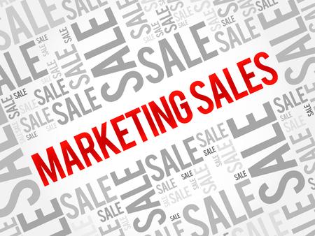 Fond de nuage de mot vente marketing Vecteurs
