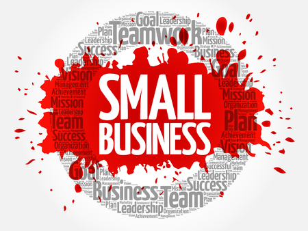 Small Business word cloud collage, business concept background