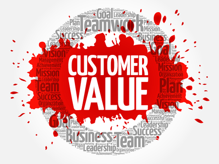 Customer Value circle word cloud, business concept 版權商用圖片 - 107524386