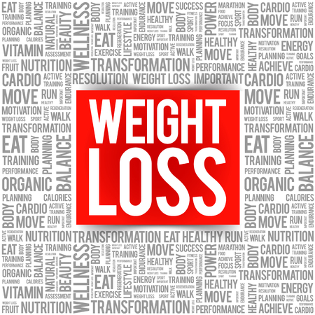 Weight Loss word cloud collage, health concept background Vector Illustration