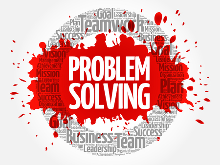 Problem Solving word cloud collage, business concept background