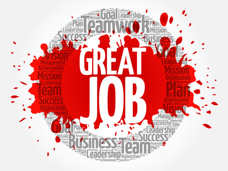 Great Job word cloud collage, business concept background
