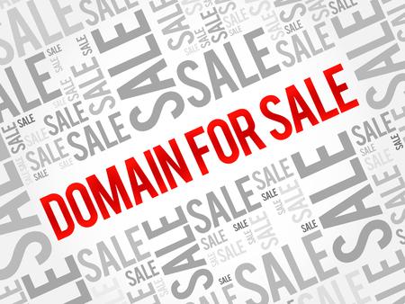 DOMAIN FOR SALE words cloud, business concept background