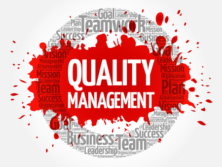 Quality Management word cloud, business concept background