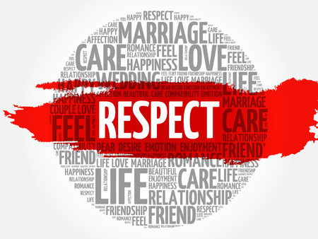 Respect circle word cloud collage concept background