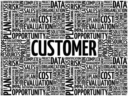 CUSTOMER word cloud collage, business concept background Vektorgrafik