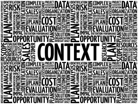 Collage de nube de word de contexto, fondo del concepto de negocio Ilustración de vector