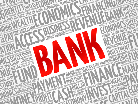 BANK word cloud collage, business concept background