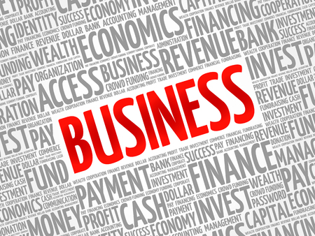 Business word cloud collage, business concept background 向量圖像