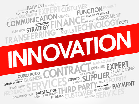 INNOVATION word cloud collage, business concept background